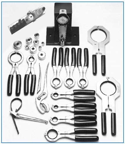 Backshell clamps and other milspec cable manufacturing tools