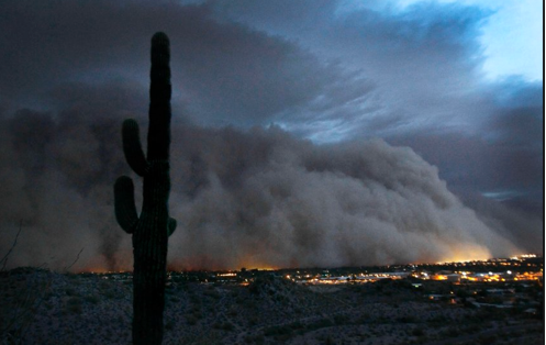Dust storm over Phoenix AZ 2011