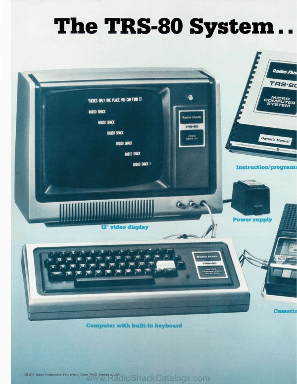 Images of the original TRS-80 later called model I
