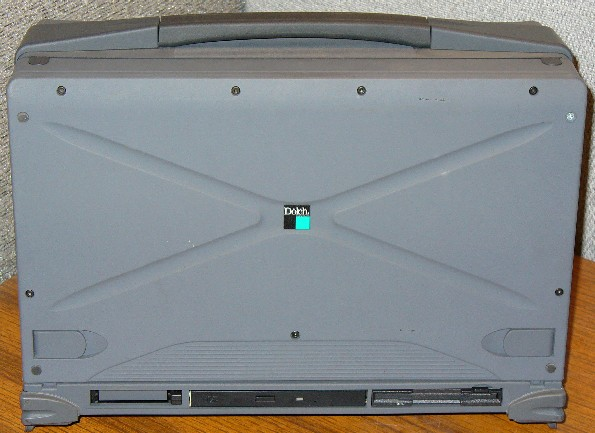 Pentium-III FlexPAC with keyboard/screen cover closed.