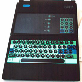 Original prototype mockup of the GRiD Compass had clamshell lid, EL display and an ugly keyboard