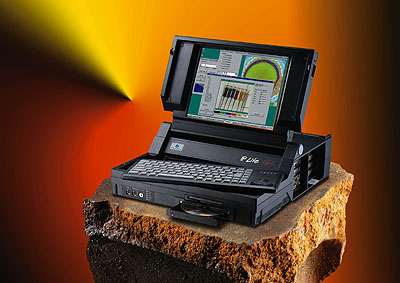 an IP-Lite on a rugged-looking lump of steel