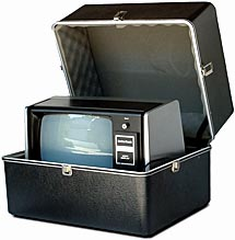 TRS-80 in a Radio Shack transit case