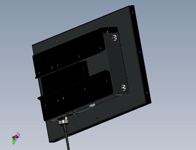 "23"" Panel PC rear view"