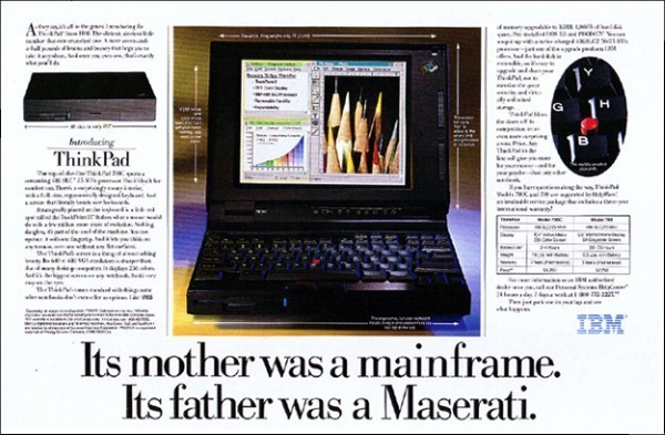 Original advert for the IBM ThinkPAD 700