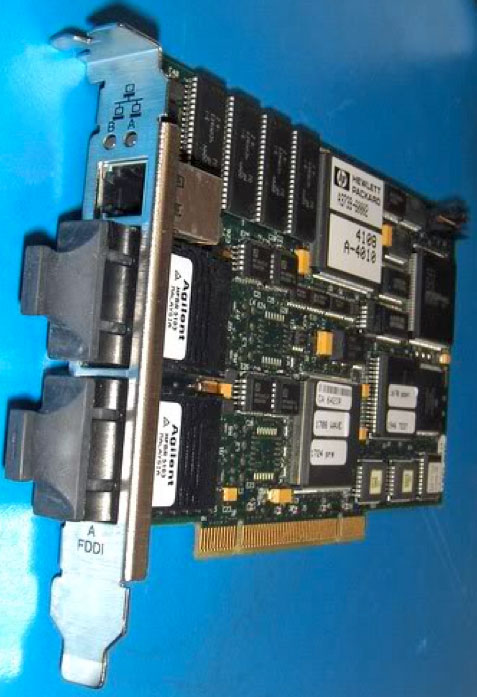 FDDI Card for installation in rugged lunchbox computer