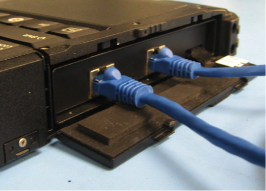 Two additional LAN ports are mounted on the side of the X500