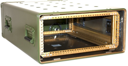 Rugged rack mount chassis in transport case
