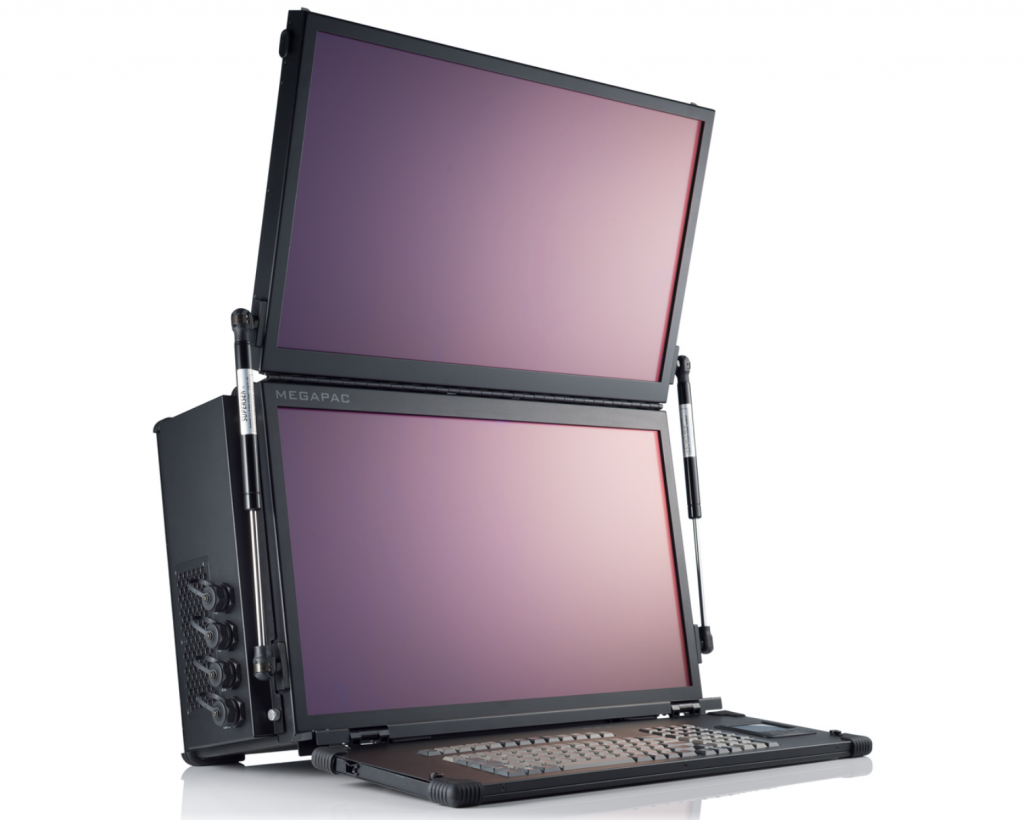 Transportable Video Editing Computer with dual 4K screens