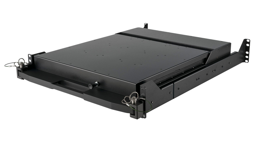 2U Dual Display Rack Monitor Stowed