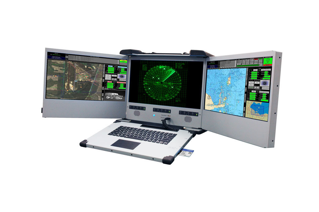 C4ISR workstation with desert cooling system