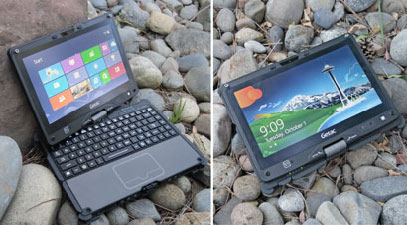 Getac V110 convertible laptop