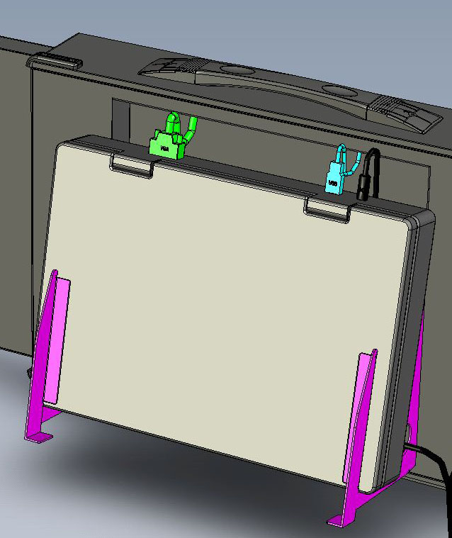 triple screen laptop display mounting bracket