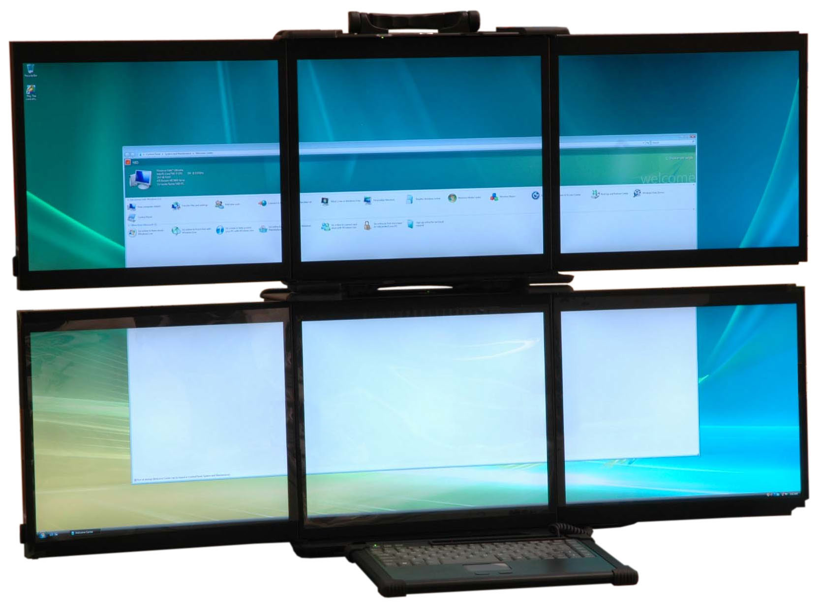 Multi Screen Display For Rugged Portables Rugged Portable