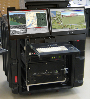 Dual Rack Mount Display Rugged Portable