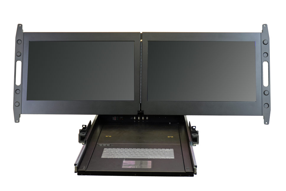 Biggest Rack Mount Monitor 2 X 23 Quot Displays In 2u